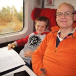 Matthew and Chris on Train from Paris to Belgium