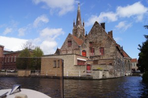 View from our boat tour of Brugge