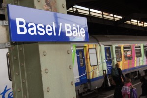 We changed trains at Basel