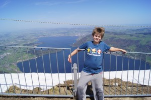 Matthew near top of Rigi