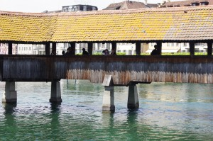 Covered bridge in Lucerne
