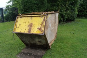 More modern art (looks like a bin to me)