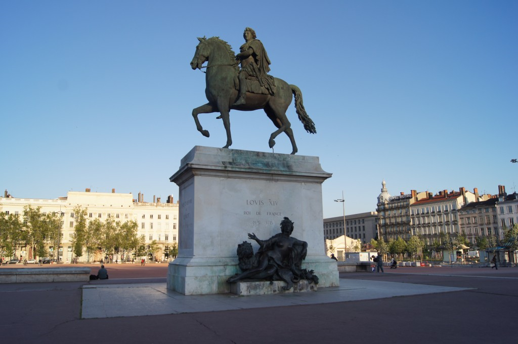 Statue in Bellecour Place