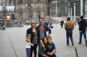 Sophie, Di, Lucas Maike and Matthew outside the Dom