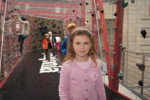 Sophie at Globetrotter climbing gym