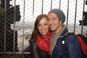 Maike and Lucas at the top of the Dom